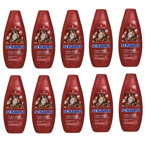 10x Schauma Shampoo 400ml Color Glanz